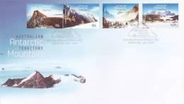 AAT 2013 Antarctic Mountains Set  FDC - Australian Antarctic Territory (AAT)