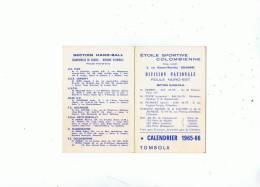 COLOMBES --Etoile Sportive Colombienne -Calendrier Des Matches Saison 65-66 -Hand-Ball-Championnat De France - Calendriers