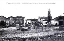 CONTOURNAT - Canton D'Olliergues - Place De La Fontaine - Très Beau Plan Animé - Olliergues