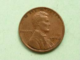 1940 - One Cent / KM 132 ( Uncleaned - For Grade, Please See Photo ) ! - 1909-1958: Lincoln, Wheat Ears Reverse