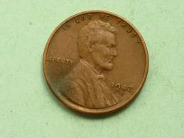 1942 D - One Cent / KM 132 ( Uncleaned - For Grade, Please See Photo ) ! - 1909-1958: Lincoln, Wheat Ears Reverse