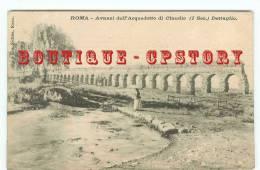 ITALIA - ROMA - Avanzi Dell´Acquedotto Di Claudio (1Sec.) Dettaglio - Italie Rome - Aqueduc Romain Eau - Dos Scanné - Andere Monumente & Gebäude