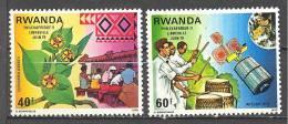 Rwanda: Yvert n� 876/7**; MNH; tambour; LIQUIDATION!!! A PROFITER!!!
