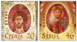 Serbia 2008 Easter, Jesus Christ, The Egg, Set MNH - Pasen