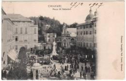 Genova Chiavari Piazza Xx Settembre Mercato Molto Animata Viaggiata 1907 - Genova (Genoa)