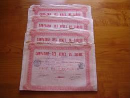 Lot : Action Société Des Mines De Siguiri . Lot De 4 . Apparemment Mines D'or En Guinée ? - Actions & Titres