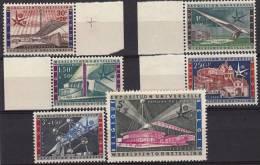 Série Complète En Bord De Feuille  Exposition Universelle 1958 - Belgio