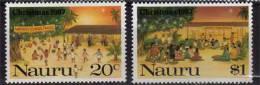 ILE NAURU.  Veillee De Noel  Sur La Plage. 2 T-pneufs **   Cote 5.50 €. Yv.# 337/8 - Nauru