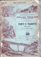 STRADE FERRATE E DELLE TRAMVIE-PONTI E VIADOTTI-DISPENSA 195 DA PG145 A PAG.176-PIANTE VARIE - Opere Pubbliche