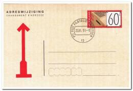 Adreswijzigingskaart 1991 ( Gestempeld Materiaal Kan Enigszins Afwijken ) - Postal Stationery