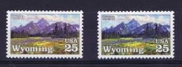 USA 1990 Color Misprint , Scott 2444, Yv 1890 MNH - Ongebruikt
