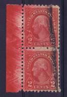 USA 1908/09  Yv 168 Sheetmargin With Color Misprint. - Gebruikt