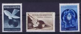 Argentie: 1939, Mi 447 - 449 A, MH/*, - Argentinië