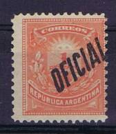 Argentie: Official, Mi 9c, Perfo 12, Not Used (*) - Service
