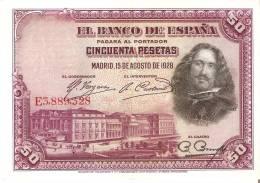 BILLETE DE ESPAÑA DE 50 PTAS DEL AÑO 1928 SERIE E CALIDAD EBC+ (BANKNOTE) - [ 1] …-1931 : Primeros Billetes (Banco De España)