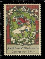 Old Original German Poster Stamp (cinderella ) Aecht Franck - Fairy Tales Sleeping Beauty Märchen Dornröschen - Fairy Tales, Popular Stories & Legends