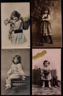 12 X CPA BELLE PETITE FILLE - FILLETTE - 3 Scans - Enfants