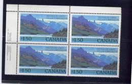 CANADA. 1982, # 935 & 935i , HIGH VALUE NATIONAL PARK:    WATERTON LAKES,  MNH, UL - Blocs-feuillets
