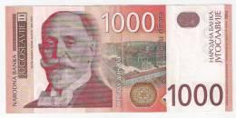 Yugoslavia 1000 Dinara 2001. P-158 - Yugoslavia