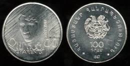 "ARMENIA    100  DRAMS  1.997  KM#76   CU-NI   SC/UNC   ""CHARENTS""     DL-7194 - Armenia"