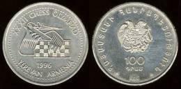 "ARMENIA  100 DRAMS 1.996  1996  CU-NI  UNC S/C KM#69 ""CHESS OLYMPIAD""   DL-7221 - Armenia"