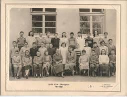 MONTGERON - Lycée Mixte - 1957-1958 - PHOTO DE CLASSE 24 X 18 Cm - Personnes Anonymes