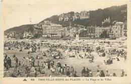 14 - TROUVILLE - Reine Des Plages - La Plage Et Les Villas (CAP. 804) - Trouville