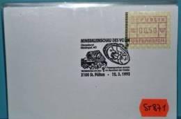 ST871 Mineralien-Schau, Chrysoberyll, Bernstein, 3100 St. Pölten 12.3.1995 - Machine Stamps (ATM)