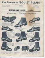 CATALOGUE GOULET TURPIN - REIMS - HIVER 1935/36 - Journaux - Quotidiens