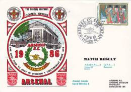 Great Britain 1986  Arsenal Against QPR  Football Commemorative Cover - Autres