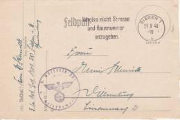 Feldpost WW2: Artillerie Ersatz Abteilung 251 (3. Batterie) Dtd Siegen 1 29.8.1940 - Letter Inside (B30) - Militares