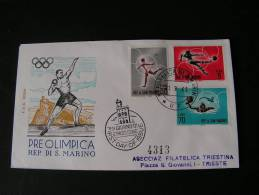== San Mariono Sport FDC 1963  Olympiade - FDC