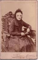 PORTRAIT CARTE CDV Alluminé 19 ème - Grande Taille 108 X 164 Bords Dorés - Edit. E. FURST 1889 - Louis Martin Nantes - Illustrateurs & Photographes