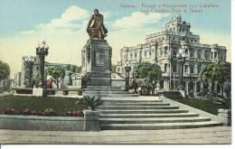 CUBA - HAVANA - LUZ CABALLERO PARK & STATUE - Cuba