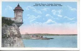 CUBA - HAVANA - WATCH TOWER - CABANA FORTRESS - Cuba