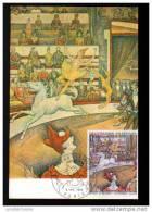 CARTE MAXIMUM -G. SEURAT - LE CIRQUE - OBLIT PARIS - Cartas Máxima