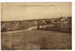 Carte Postale Ancienne Saint André De Cruzières - Vue Générale - Other Municipalities