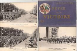 Livret 26 CPA Fêtes De La Victoire 14 Juillet 1919 WW1 Foch Joffre Militaria Soldats Miltaires - Oorlog 1914-18