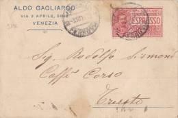 9732# POSTA ESPRESSO VENEZIA FERROVIA 1921 => TRIESTE - Posta Espresso