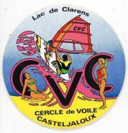 Autocollant Sport Planche à Voile - CVC Casteljaloux - Stickers