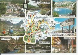 L'ANDORRE - CARTE A SYSTEME - Andorre