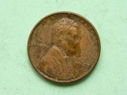 1947 - One Cent / KM A132 ( Uncleaned - For Grade, Please See Photo ) ! - 1909-1958: Lincoln, Wheat Ears Reverse