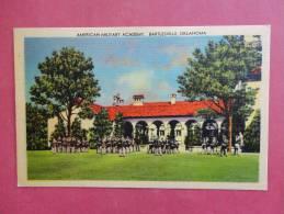 Oklahoma > Bartlesville  Military Academy  Linen Not Mailed      ---ref 910 - Bartlesville