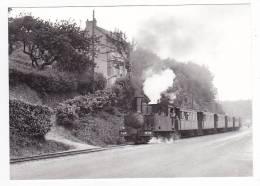 CP Moderne 22 Saint Brieuc Train Locomotive à Vapeur Pour Paimpol Sur Les Boulevard En 1955 Voir DOS - Saint-Brieuc