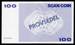 "Test Note ""SCANCOIN"" Testnote, 100 Units, Typ A = 140 X 82 Mm, Beids. Druck, RRRRR, UNC, Provsedel - Sweden"