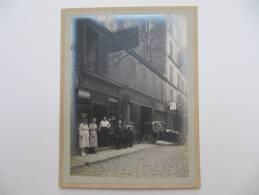 PARIS 7° - Teinturerie Au Beau Noir - Photo Format 16 X 11,5 Cm Contrecollée Sur Carton Fort - Ancianas (antes De 1900)