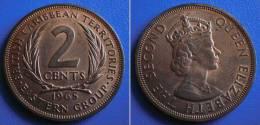 BRITISH EAST CARIBBEAN TERRITORIES  2 Cents 1965 UNC - Colonias