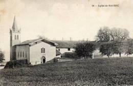 CPA - MAUBEC (38) - L'Eglise - Autres Communes