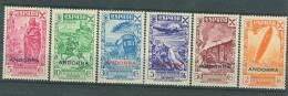 Andorra 1943 (Beneficencia) EDIFIL 7-12  MNH** - Nuevos