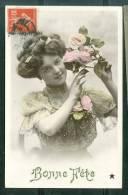 Bonne Fête , Jeune Femme Et Roses   - Ut63 - Other